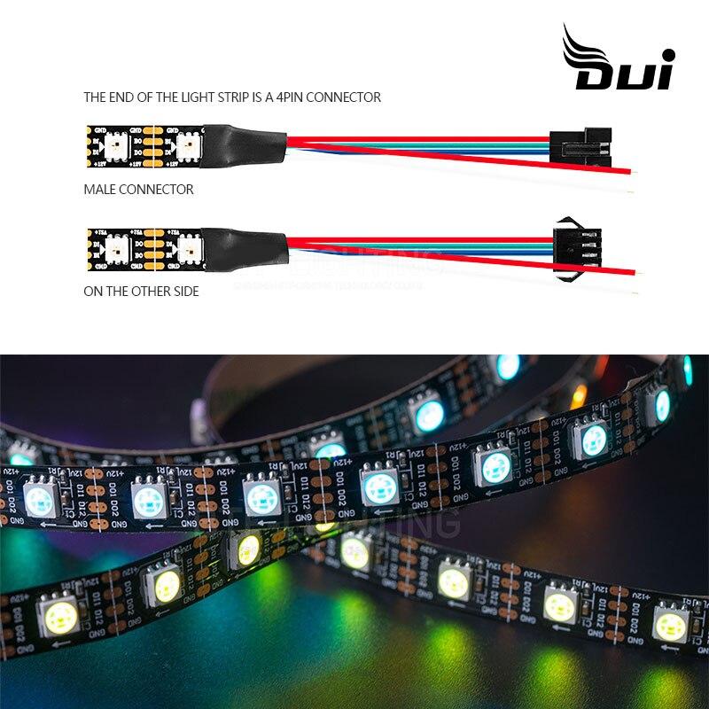 Cinturón de luz suave LED DUI de bajo voltaje 5050RGB 44/24 teclas de escritorio 5 a conjunto de fuente de alimentación cinturón de luz impermeable