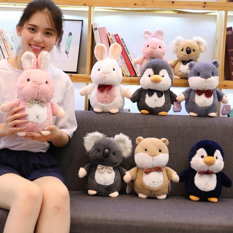 Linda serie de arroz glutinoso muñeca adorable Koala pingüino hámster niños niñas regalo grúa máquinas muñeca