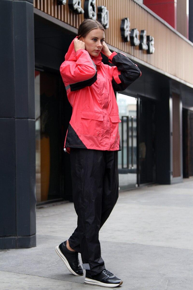 Motorcycle Women Raincoat Suit Reusable Waterproof Rainwear Fashion Impermeable Wet Weather Gear Veste Pluie Rain Gear EB50YY enlarge
