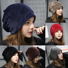 New Popular Fashion Casual Women Winter Velvet Ski Leisure Hat Unisex Hip Hop Beanie Earmuffs Head H