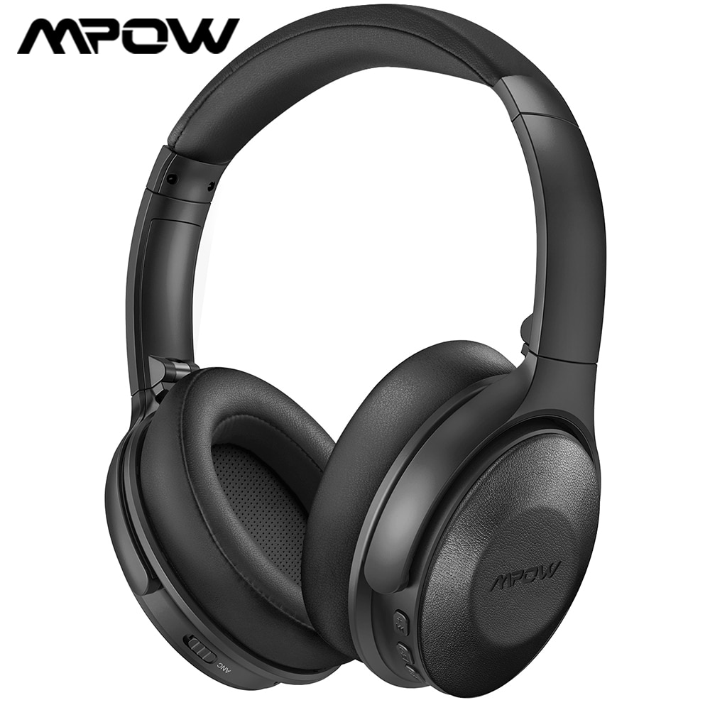 Mpow H17 نشط الضوضاء إلغاء سماعات بلوتوث سماعة رأس بمايكروفون 2 ساعة تهمة سريعة و 45Hrs وقت اللعب