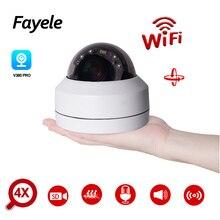 Caméra PTZ H.265 WIFI 2 mp   IR Zoom 4X sans fil, caméra dôme IP HD IR 50M, Vision nocturne, 2 voies Audio, enregistrement SD, commande Mobile P2P