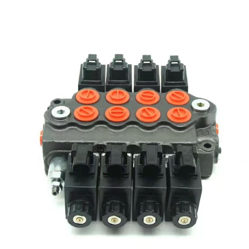 SD5 12vor24v التحكم الكهربائي الهيدروليكي متعدد الاتجاهات صمام شاحنة نفايات