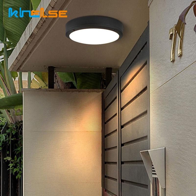 Waterproof Outdoor Lighting Bathroom Lights Wall Sconce Lamp Flush LED Ceiling Light Kitchen Balcony Porch Door Fixtures 90-260V