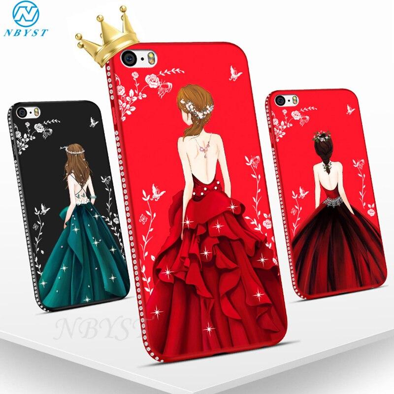 Diosa vestido TPU caso para Xiaomi mi Note10 9T CC9 Pro mi 8 9 SE A3 A2 Lite mi MAX 2 3 A1 5X 6X F1 jugar diamante Bling cubierta