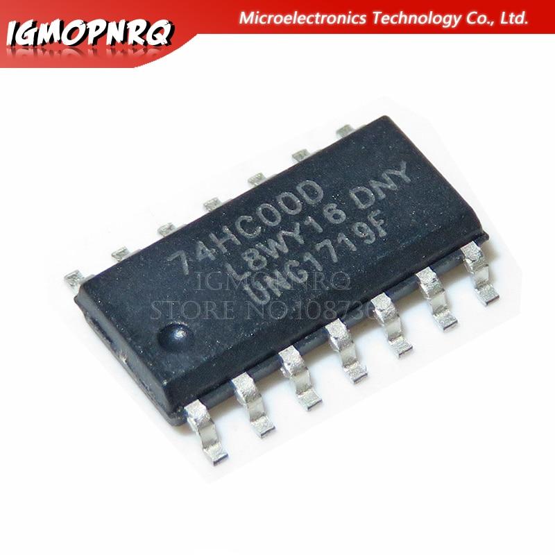 20 piezas 74HC00D 74HC00 SN74HC00D SOP-14 lógica puertas QUAD 2-En puerta NAND nuevo original