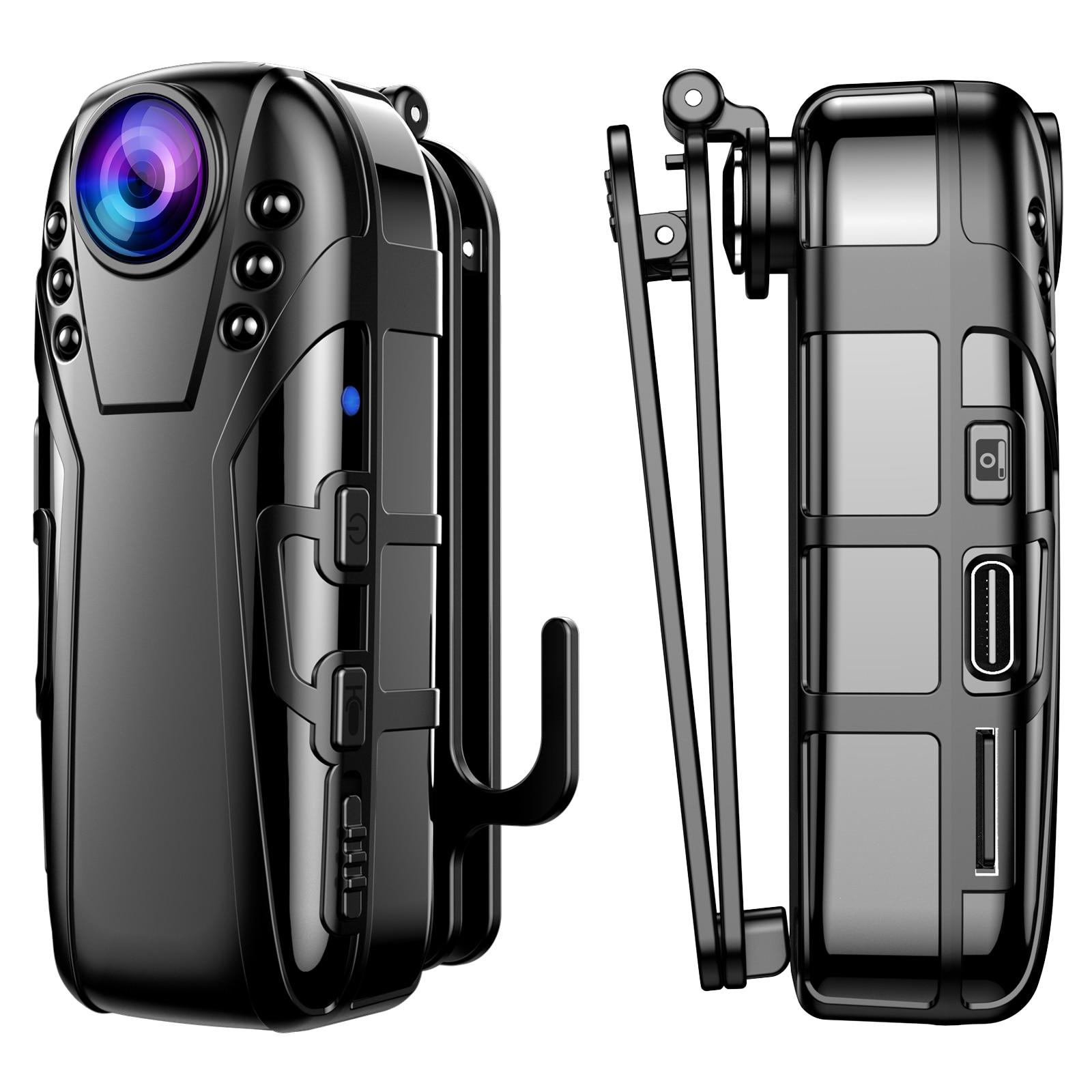Boblov L02 كاميرا صغيرة كامل HD 1080P المحمولة كامارا الشرطة مسجل دي في أر الجسم كام دراجة نارية الحركة الهيكل كاميرا صغيرة
