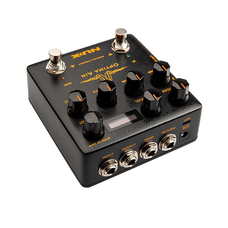 NUX Optima Air Dual Switch Acoustic Guitar Simulator Pedal with a Preamp IR Loader Capturing Mode for Guitar Effects Accessories enlarge