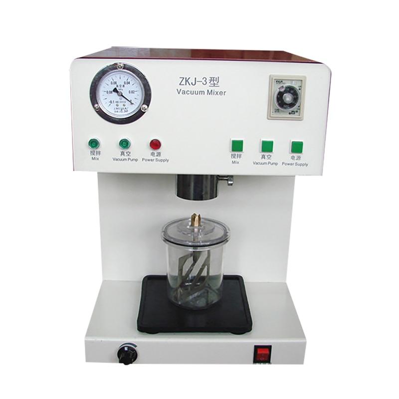Dental Lab Vacuum Mixer ZKJ-3 Built-in Pump Plaster Investment Silicone Materials Mixing Machine