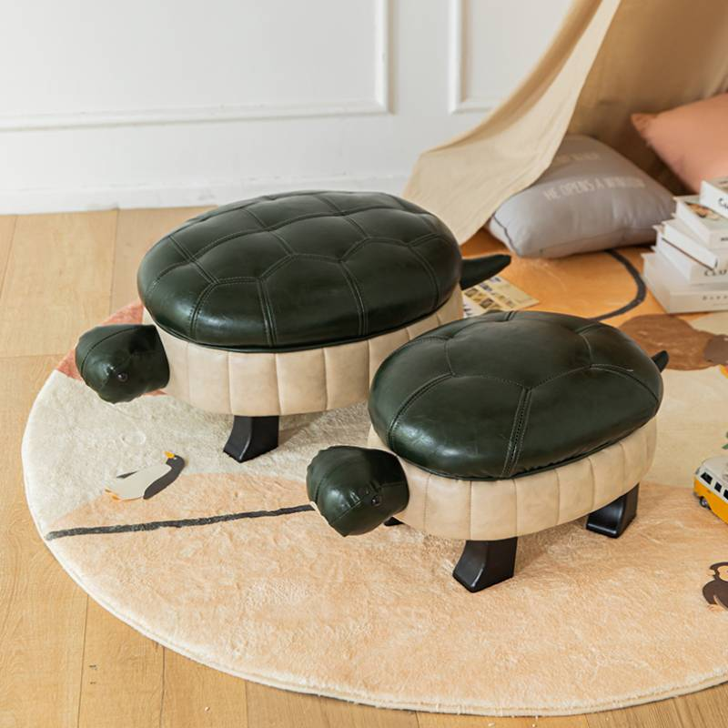 Low Stool Children Contracted Leather Art Small Stools Детская мебель Web Celebrity Home Creative Lovely Sofa Turtle Furniture