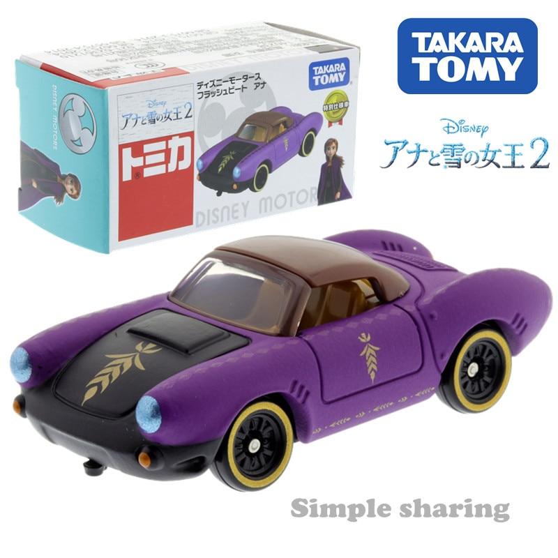 Takara Tomy Disney Motors Flash Beat Ana Sister Snow Queen 2 Diecast Toy Car