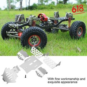 Six-in-One TRX4 Stainless Steel Chassis Armor Set Axle Protector Plate for 1/10 RC Crawler Traxxas TRX-4 Metal Upgrade Parts