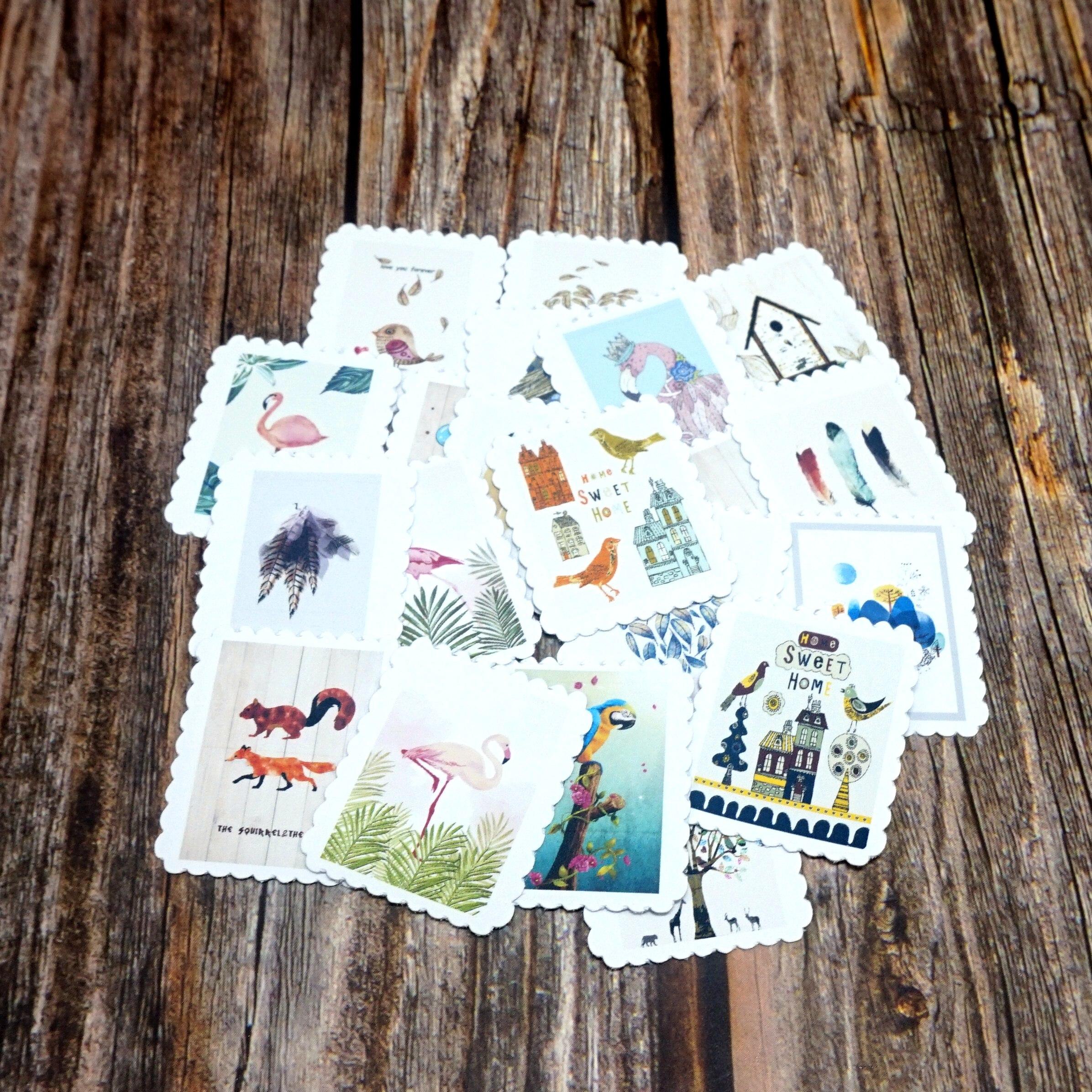 22 шт. водонепроницаемые наклейки Kawaii с животными, сделай сам, дневник в стиле Скрапбукинг, наклейка на этикетку, милые канцелярские принадле...