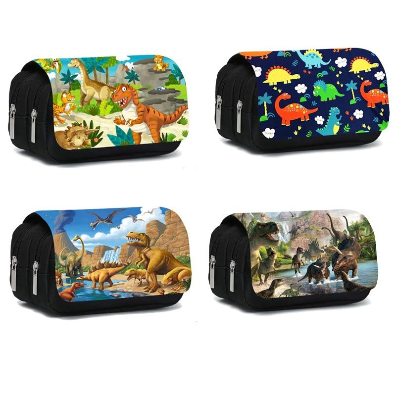 Cool Dinosaur Print Cosmetic Cases Pencil Box Teenagers for Boys Girls Makeup Bag Children Cartoon D