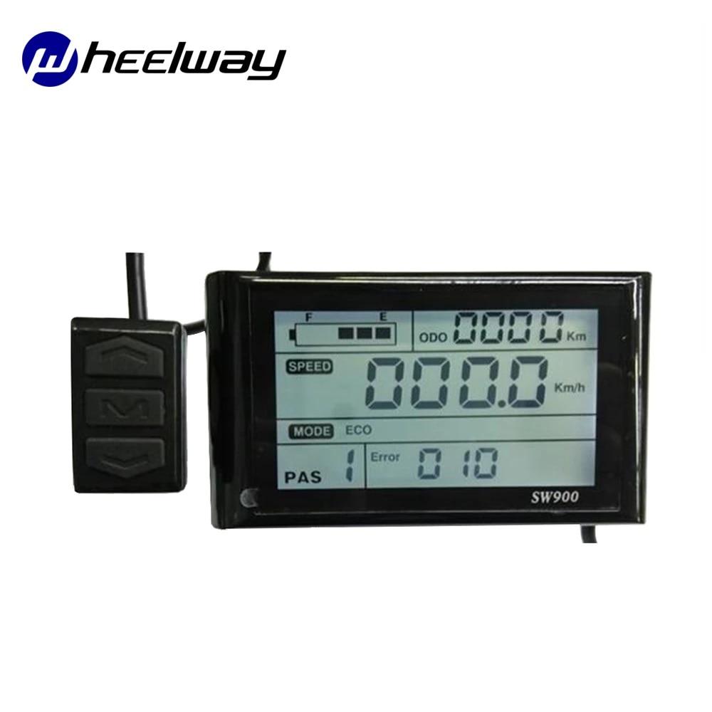 Pantalla LCD para Bicicleta eléctrica SW900, 24V, 36V y 48V
