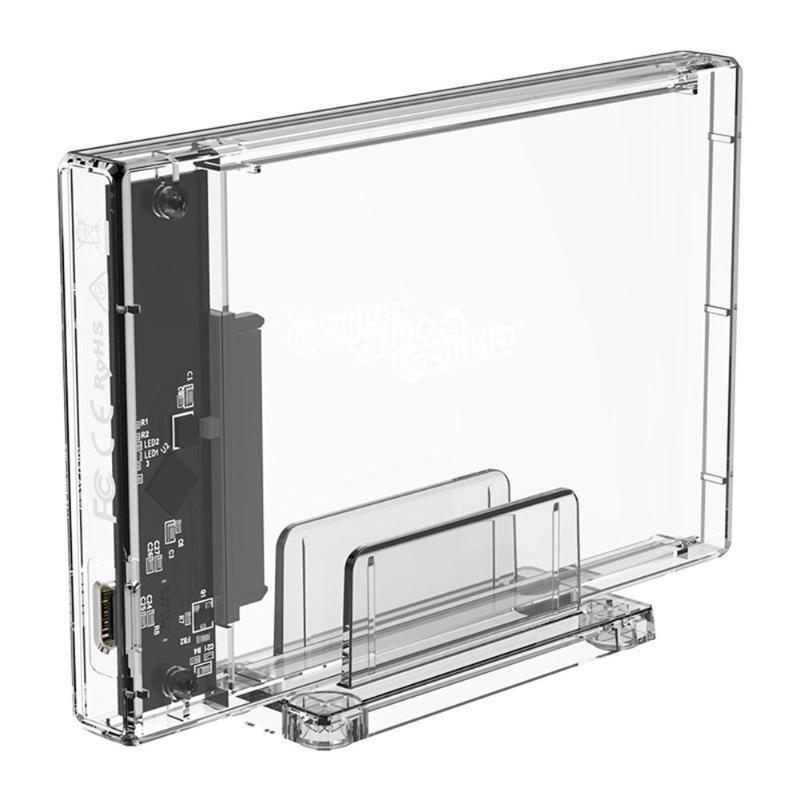 Disco Duro ORICO Funda de disco duro USB 3,1 tipo C a disco duro SATA de 2,5 pulgadas carcasa externa SSD transparente para Macbook