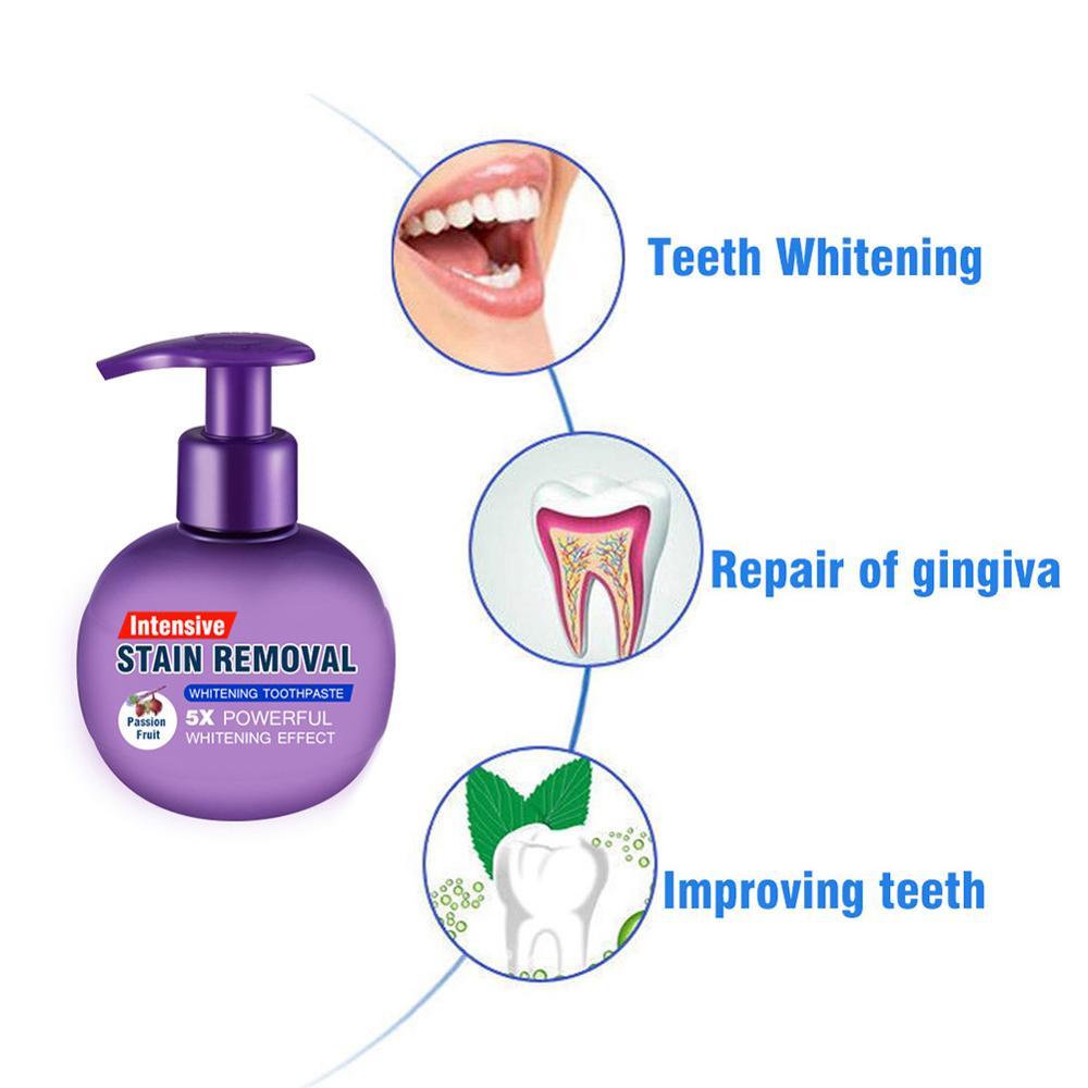 Зубная паста для отбеливания зубная паста зубные полоски для удаления пятен отбеливающая зубная паста с кровоточивость десен Свежая Черни...
