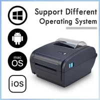 4 inch label printer with usb bluetooth interface compatible window mac 46 shipping waybill barcode thermal printer