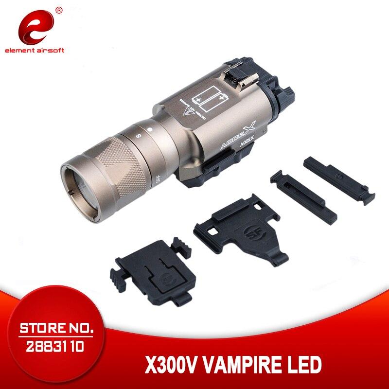 Eleman Airsoft Surefir X300 taktik el feneri tabanca ışık Strobe avcılık lamba X300V silah silah ışık Surefir X300 EX381