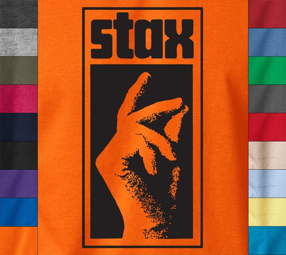 STAX mano logotipo camiseta alma Funk rompe Motown etiqueta registros algodón Ringspun Tee