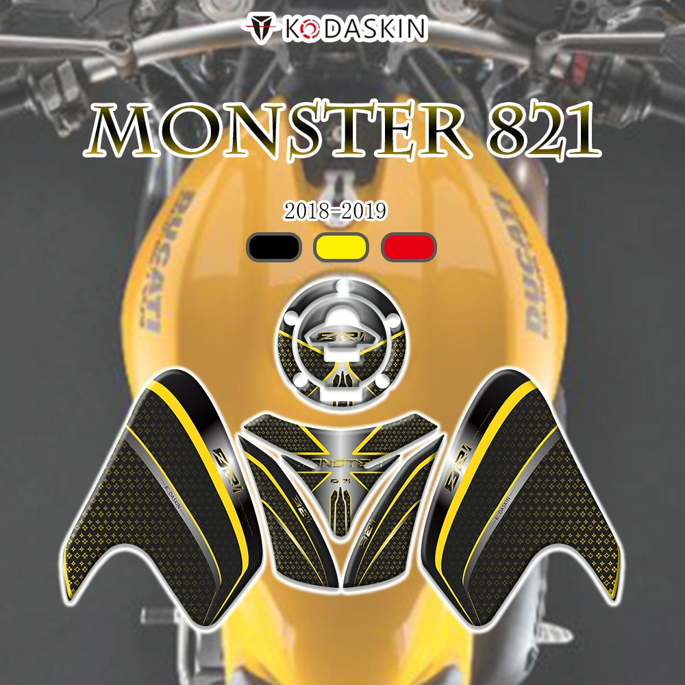 KODASKIN impresión 3D tapa de Gas tanque almohadilla de tracción rodilla Feul Tank Pad pegatinas de moto para DUCATI monster 821