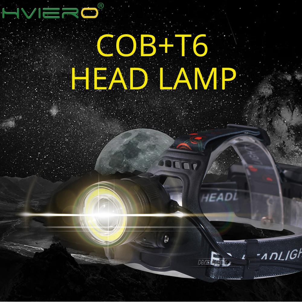 USB Led Headlamp Headlight Led Cree Xml T6 Cob Head Torch Flashlight  Head Light Super Bright Waterproof LED Headtorch Head Lamp