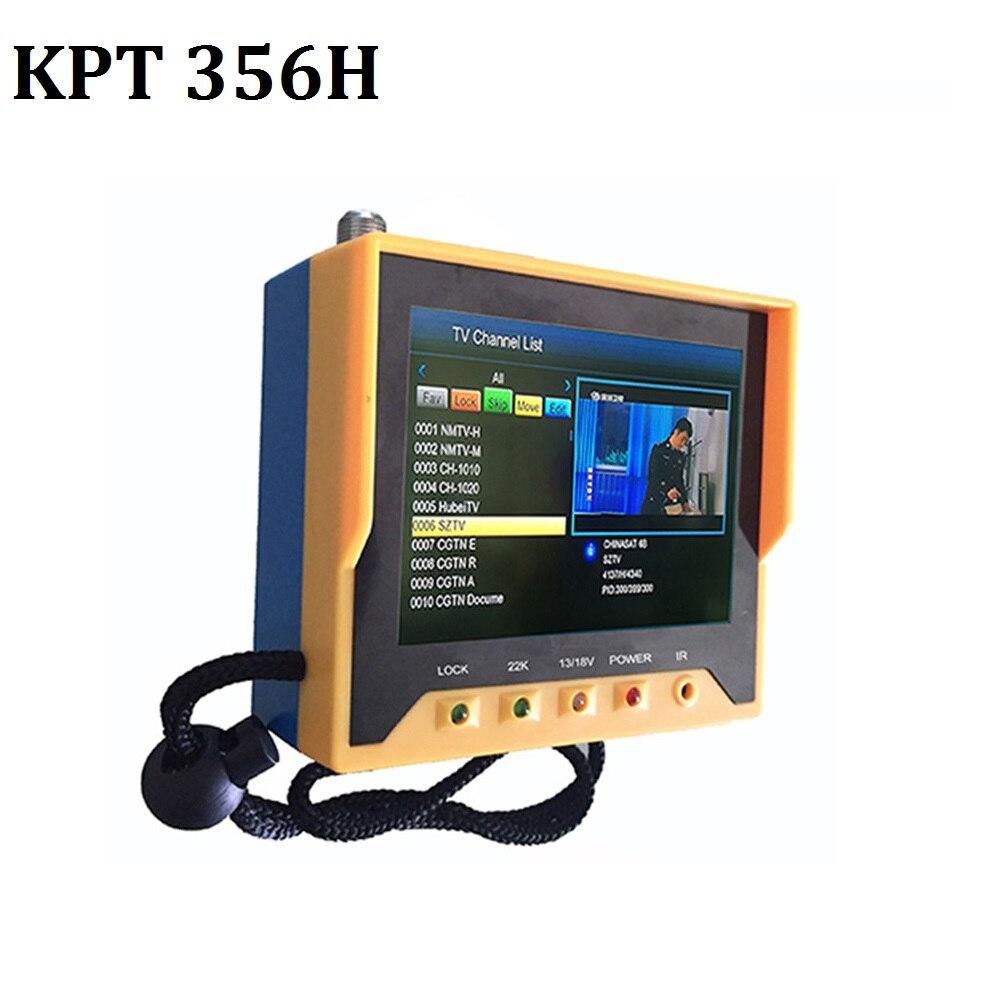KPT-356H DVB-S2 se sentó de seguimiento rápido Full HD medidor del buscador de satélite Digital MPEG-4 modulador DVB-S receptor de TV KPT 356H