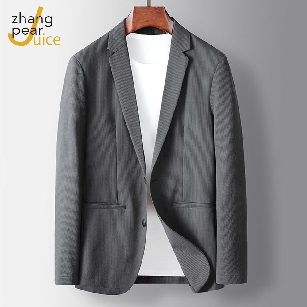 New Arrival Autumn Summer Men Jacket Blazer Male Thin Casual Single Breasted Coat