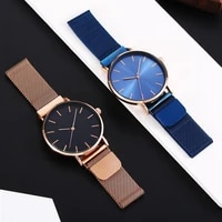 men and women watches no logo milanese magnet buckle for girl and boy student watches without logo thin simple minimalist watch