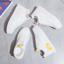 SWYIVY Chaussure Bianco scarpe Da Tennis Delle Donne Casual Scarpe Basse 2020 Scarpe Da Donna Della Piattaforma di Modo della Molla Delle Signore Scarpe Da Tennis Per Le Donne