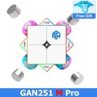 GAN251 M Pro Air Leap 2x2 Magnetic Speed Cube Professional GANCUBE 251M 2x2x2 mangetic cubo puzzles GAN251 Magic Cube