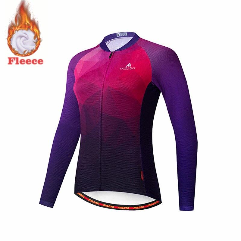 MILOTO-ropa térmica De lana para Ciclismo, camisetas De manga larga para bicicleta...