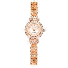 Fashion Women Dress Watches Luxury Crystal Bracelet Quartz Wristwatch Rose Gold Casual Watch Relogio Feminino Clock