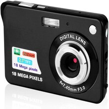 KOMERY Digital Camera 2.7 Inch TFT Screen CMOS Anti-shake 8X Digital Zoom Cam 18MP Digital Video Cam