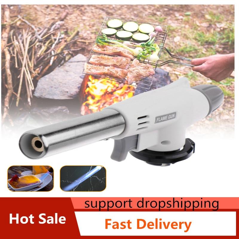 Газофонарь релка для кемпинга, зажигалка для барбекю, Сварочная горелка, Бутановая горелка, газовая горелка