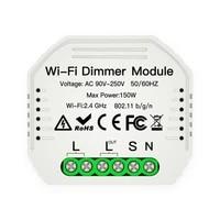 VODOOL     interrupteur variateur Wifi intelligent  1 voie  Mini Module declairage LED  telecommande Tuya  pour Alexa Google Home  bricolage
