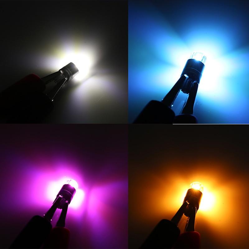 Купить с кэшбэком ANMINGPU 2x Car Led Signal Lamp T10 Led 3030SMD  W5W T10 Led Canbus Light Bulbs Clearance Light Reading Lights Interior Lights