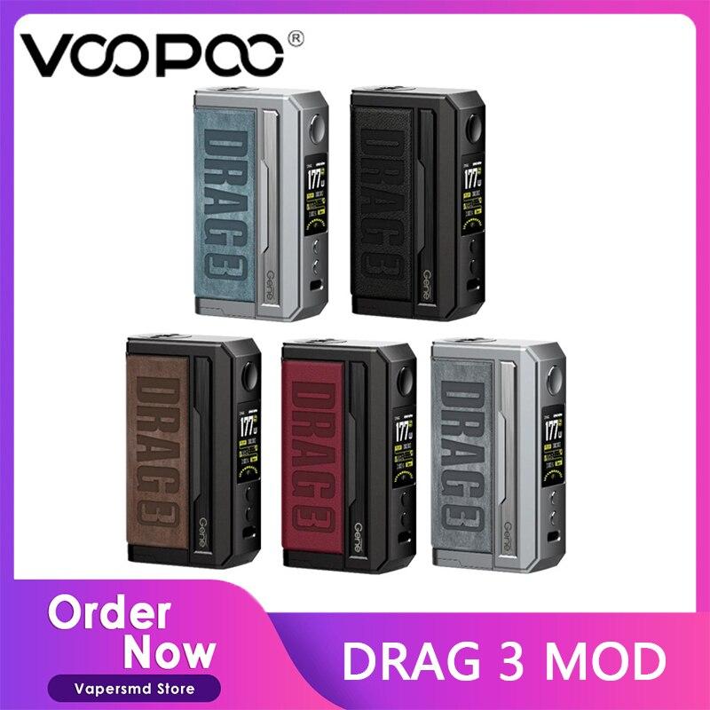 VOOPOO Drag 3 Mod Electronic Cigarette 177W Box MOD Vape Support TPP Pnp Pod Cartridge TPP-DM1 TPP-D