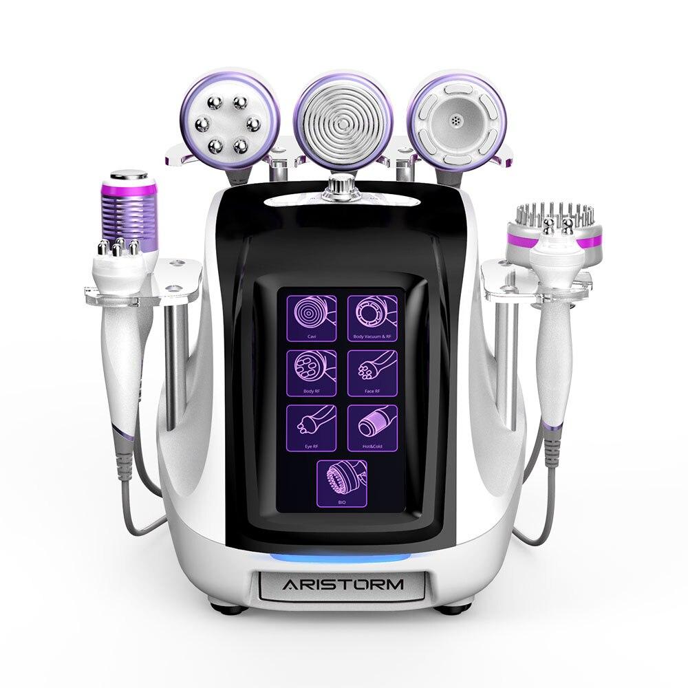 محمول 8in1 العلامة التجارية الجديدة التجويف RF فراغ تردد الراديو جهاز تجميل الجسم تكوين تجديد الجلد