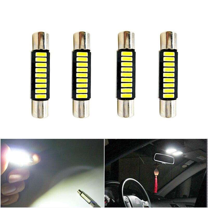 4x28 milímetros Festão LEVOU T6.3 C5W 29mm 31 milímetros LEVOU Festão 6614 6641 Fusível LEVOU Luz Para carro Vanity Luzes do Espelho Viseira Lamp Branco