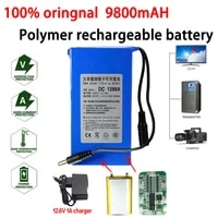 new 12v polymer lithium battery 9800mah monitoring toy motor led street lamp outdoor standby power storage battery pack