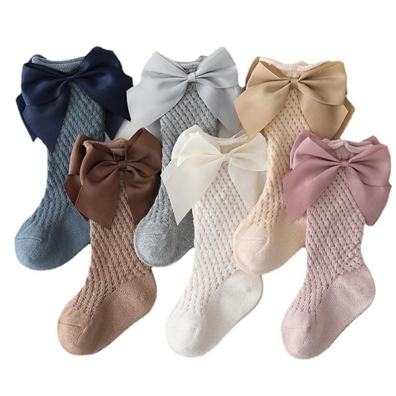 Женские-однотонные-детские-носки-с-бантом-хлопковые-детские-длинные-носки-детские-до-колен-мягкие-хлопковые-сетчатые-носки-в-испанском-с