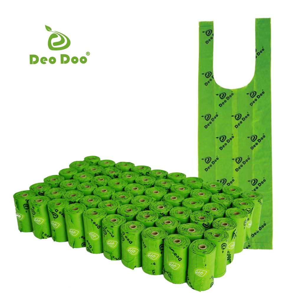 Bolsas biodegradables para excrementos de Perro, con asa de corbata, Bolsas para...