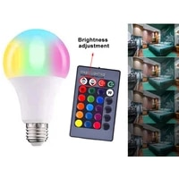ac85 265v magic rgb led bulb light e27 b22 remote control 16 colors changing color smart lamp dimmable 3w 5w 10w 15w