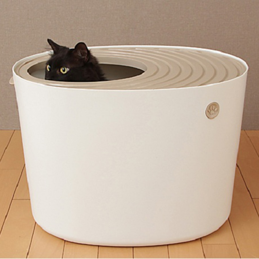 Plastic Bedpan  Large Cat Toilet Training Kit Cat Litter Box Closed Free Arenero Gato Cerrado Reusable  Pet Products Scoop  B80