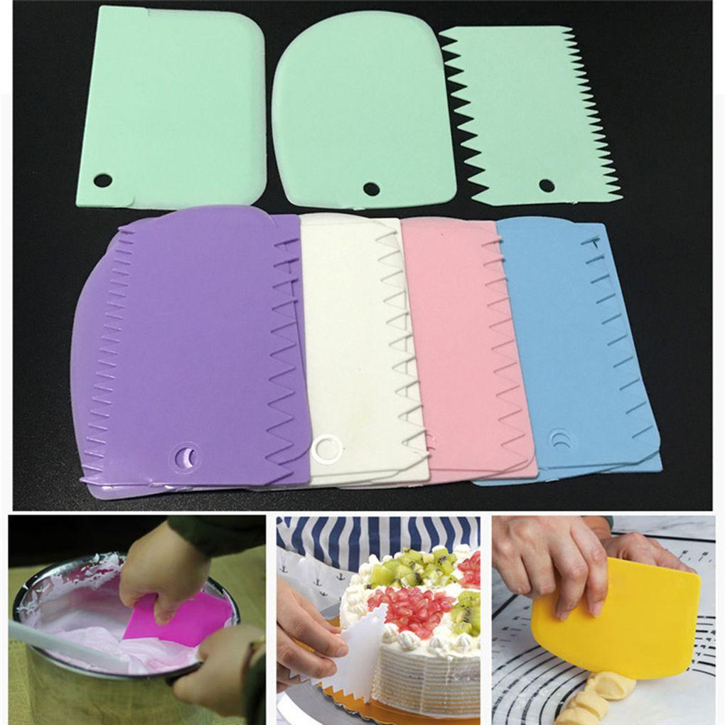 AliExpress - 3PCS/Lot Dough Cake Cutter Slicer Spatula for Cake Cream Scraper Pasty Cutters Scraper Irregular Teeth Edge DIY Smoother