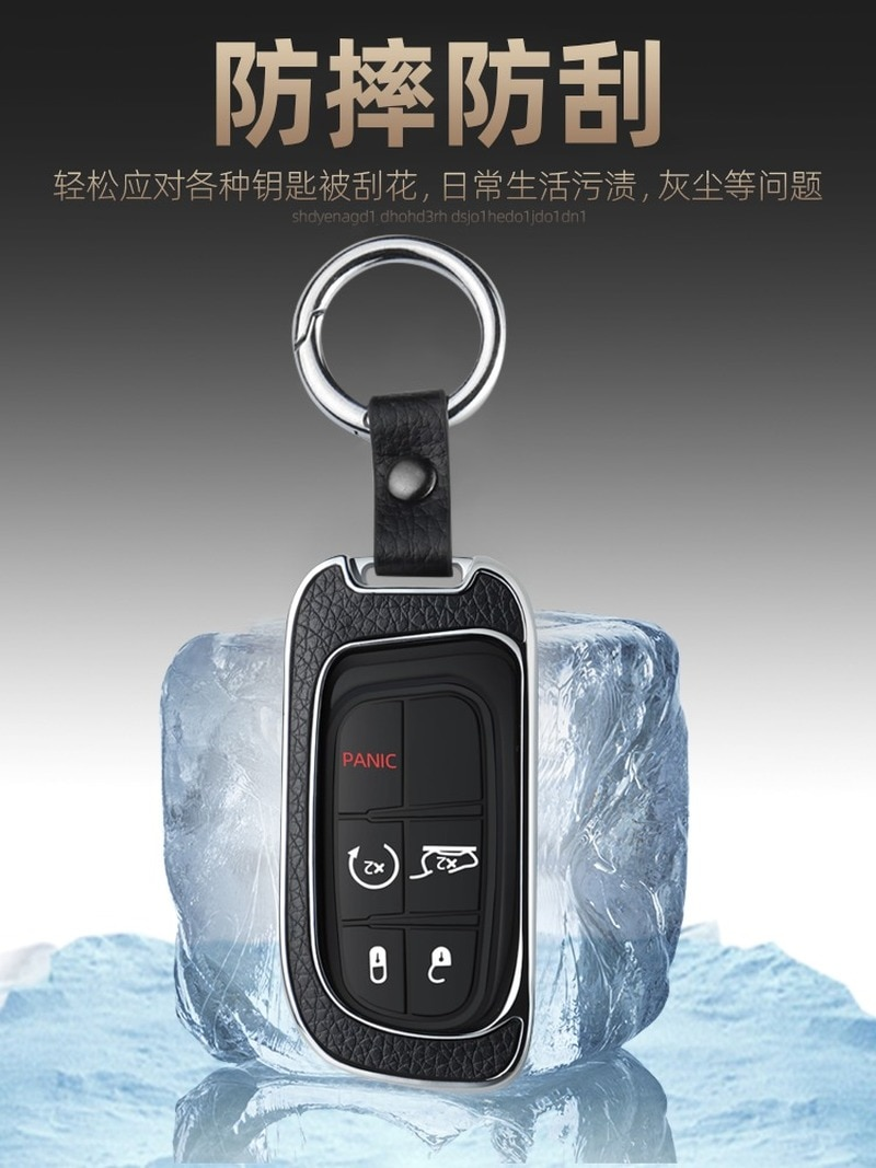 Galvanized Alloy Car Key Case Cover Key Chain Key Bag Shell Protector  for JEEP Cherokee Compass Renegade Grand Car Accessories enlarge