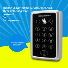 Access Control Card Swipe Password Access Control System Set Single Double Doors Glass Door Intelligent Access Control Machine