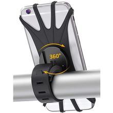 Support de téléphone de bicyclette de Silicone pour liphone 11/6/7/8/X/Xr pour xiaomi 4.0 -6.1 pouces
