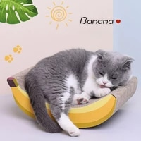 pet cats scratcher furniture toys banana shape scratcher bed corrugated paper claw board scratching nail scrape grinding claw
